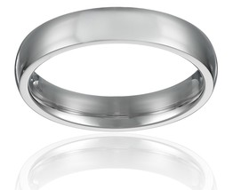 4mm Stainless Steel Ring Wedding Band Comfort Fit; High Polish; Szs 4-16... - $19.95