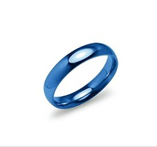 4mm Stainless Steel Comfort Fit Blue IP Wedding Band Ring Size 9 - $17.95
