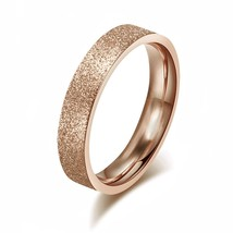 4mm Rose Gold Stainless Steel Ring Wedding Band Comfort Fit; Sizes 4-16 ... - $19.95