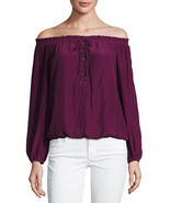 New $325 Ramy Brook JPurple Jill Off-the-should... - $87.20