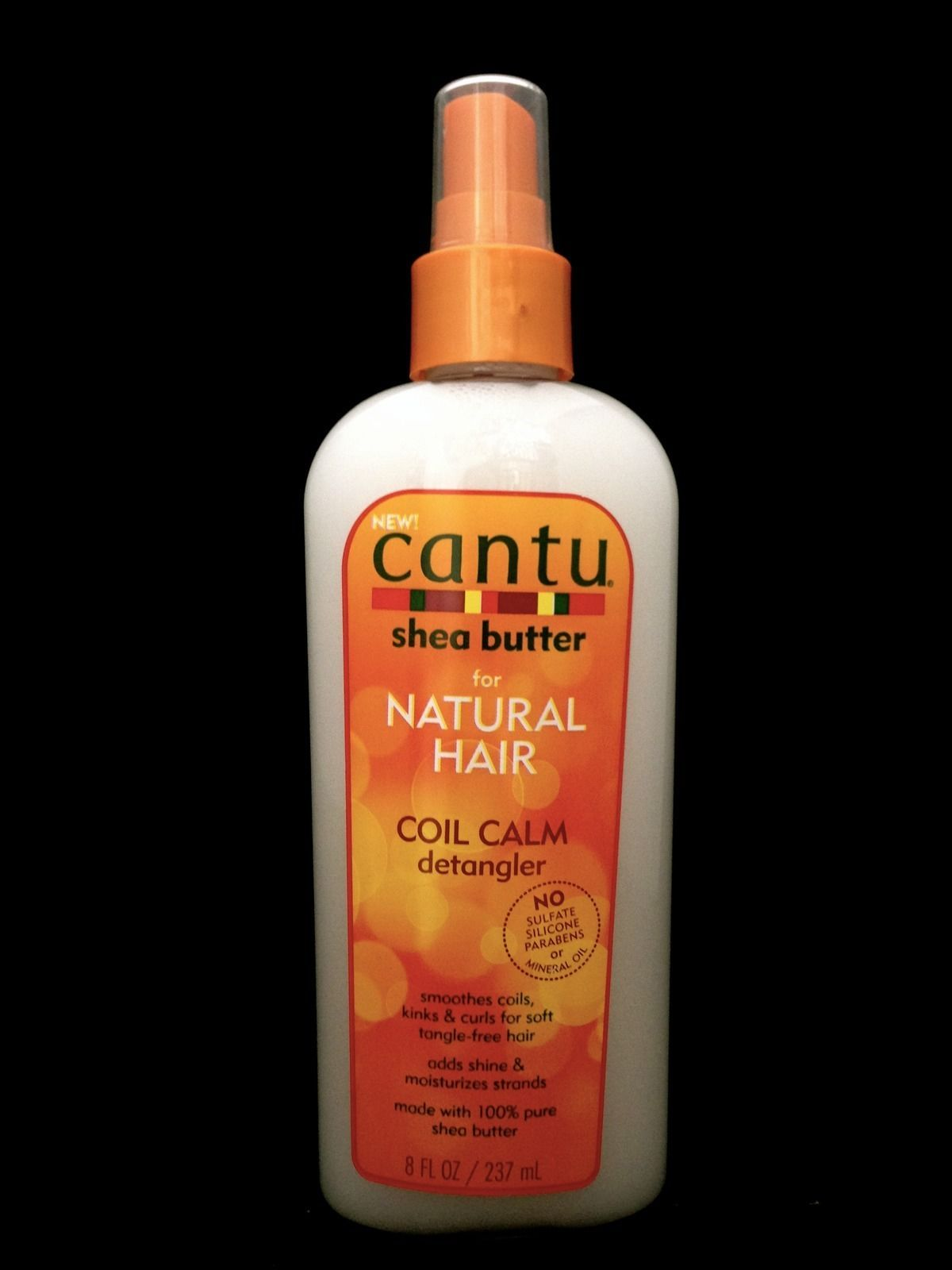 CANTU SHEA BUTTER FOR NATURAL HAIR COIL CALM DETANGLER NO SULFATE PARABEN  8oz
