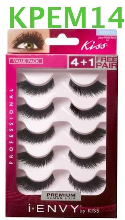 I ENVY BY KISS EYELASHES JUICY MULTI PACK 14- KPEM14 VALUE PACK LASHES