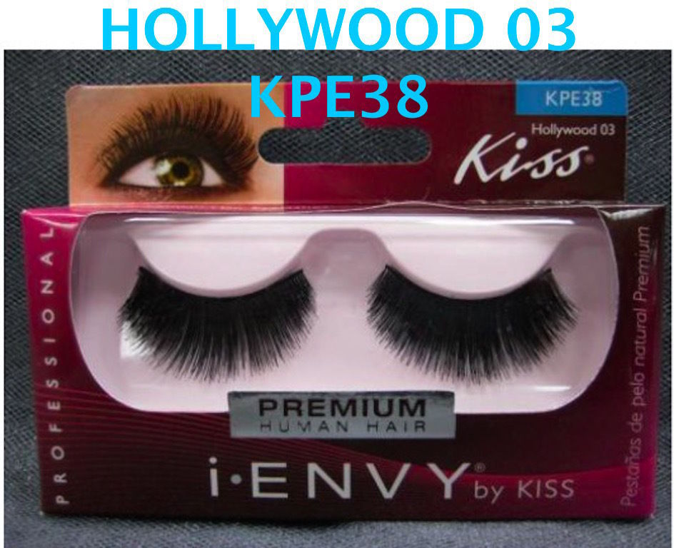I ENVY BY KISS EYELASHES HOLLYWOOD 03- KPE38 100% HUMAN HAIR EYELASHES
