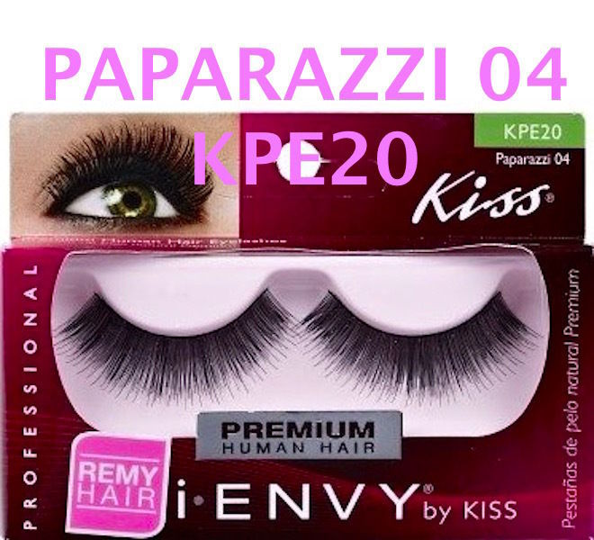 I ENVY BY KISS EYELASHES PAPARAZZI 04- KPE20 100% HUMAN HAIR EYELASHES