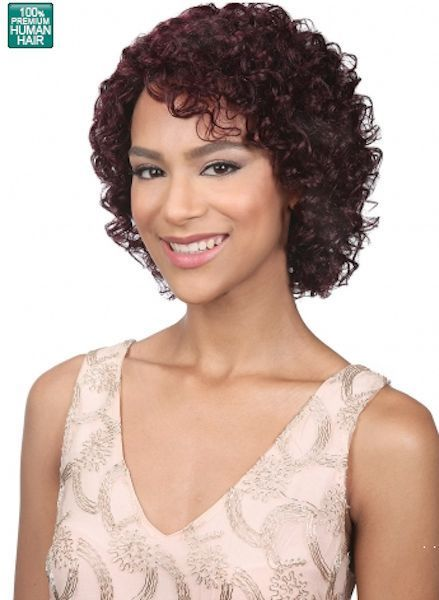 MIDWAY BOBBI BOSS MH1232 JERRY 100% HUMAN HAIR WIG CURLY STYLE HUMAN HAIR WIG