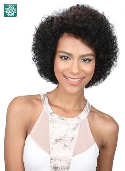 MIDWAY BOBBI BOSS MH1234 AFRO 100% HUMAN HAIR WIG AFRO CURL STYLE HUMAN HAIR WIG
