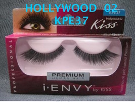 I ENVY BY KISS EYELASHES HOLLYWOOD 02-  KPE37 100% HUMAN HAIR EYELASHES - $2.96