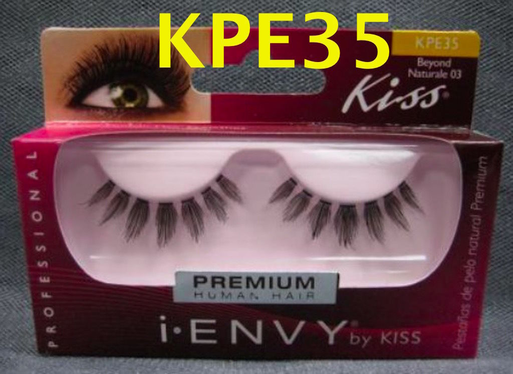 I ENVY BY KISS EYELASHES BEYOND NATURALE 03- KPE35 100% HUMAN HAIR EYELASHES