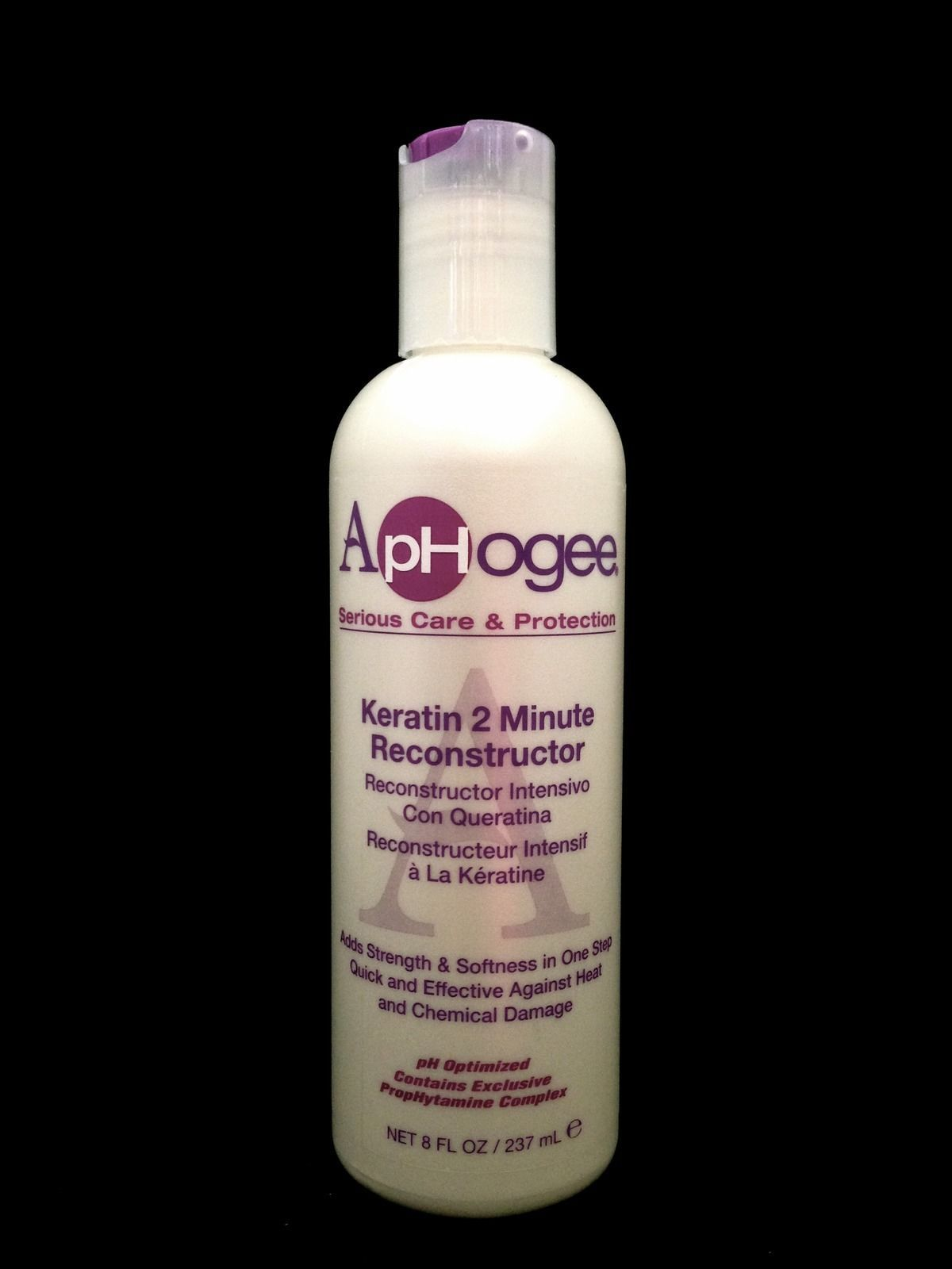 APHOGEE KERATIN 2 MINUTE RECONSTRUCTOR ADDS STRENGTH & SOFTNESS IN ONE STEP 8oz
