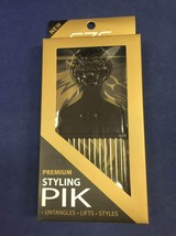 ANNIE EZE STYLING PIK #6682 W/ METAL PINS LONG PIK GOLD COATED TEETH 2.5... - $2.56