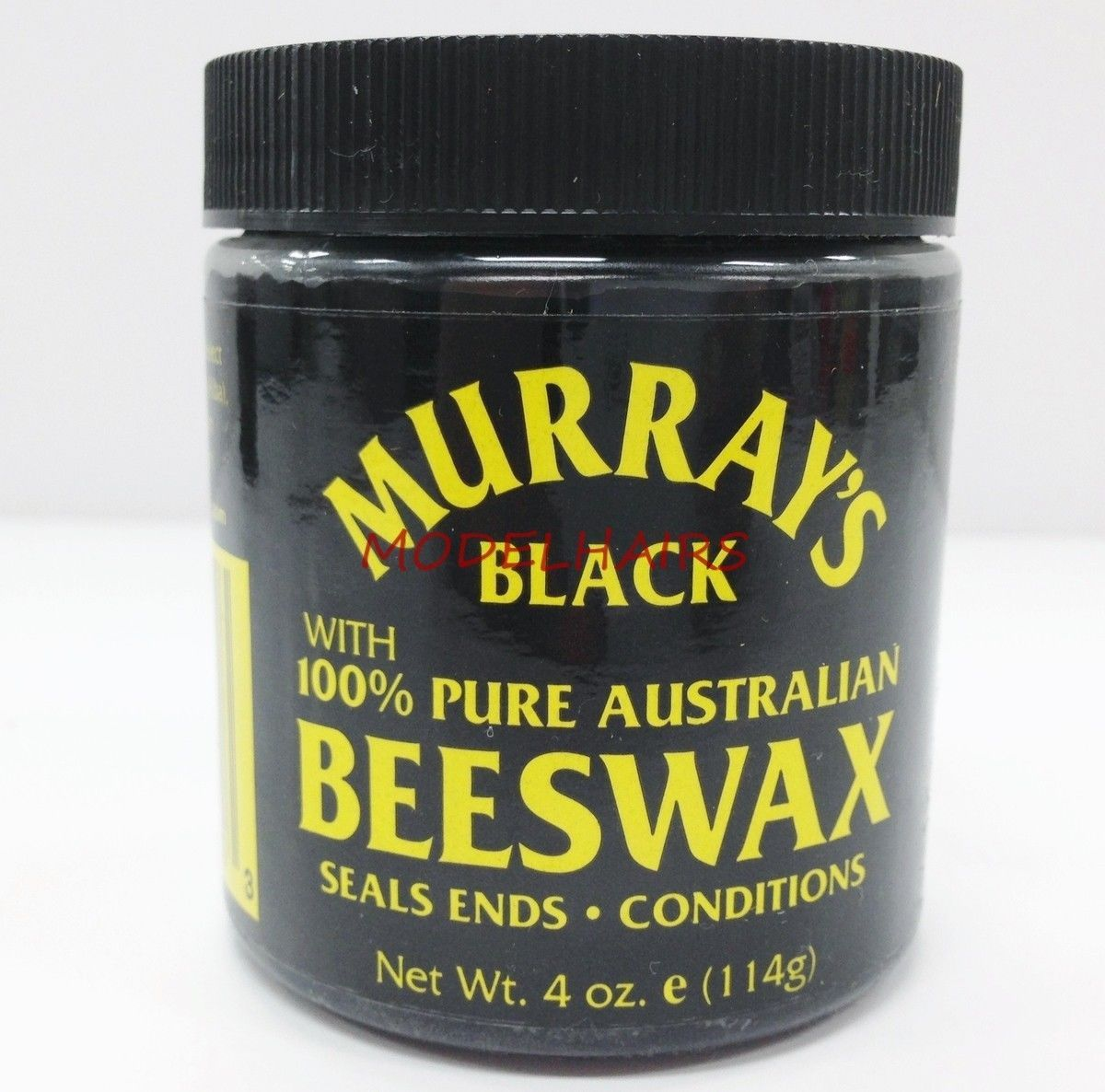MURRAY'S BLACK BEESWAX WITH 100% PURE AUSTRALIAN BEESWAX SEALS CONDITIONS 4oz