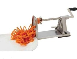 Stainless Steel Curly French Fry Vegetable Spiral Cutter Slicer Potato T... - $78.77