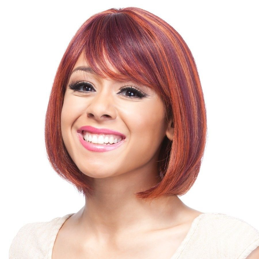 IT'S A WIG NIA 100% HUMAN HAIR WIG SHORT STYLE BOB CUT WIG