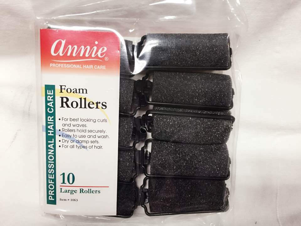 "ANNIE LARGE FOAM ROLLERS ITEM # 1063 1"" DIAMETER 10"