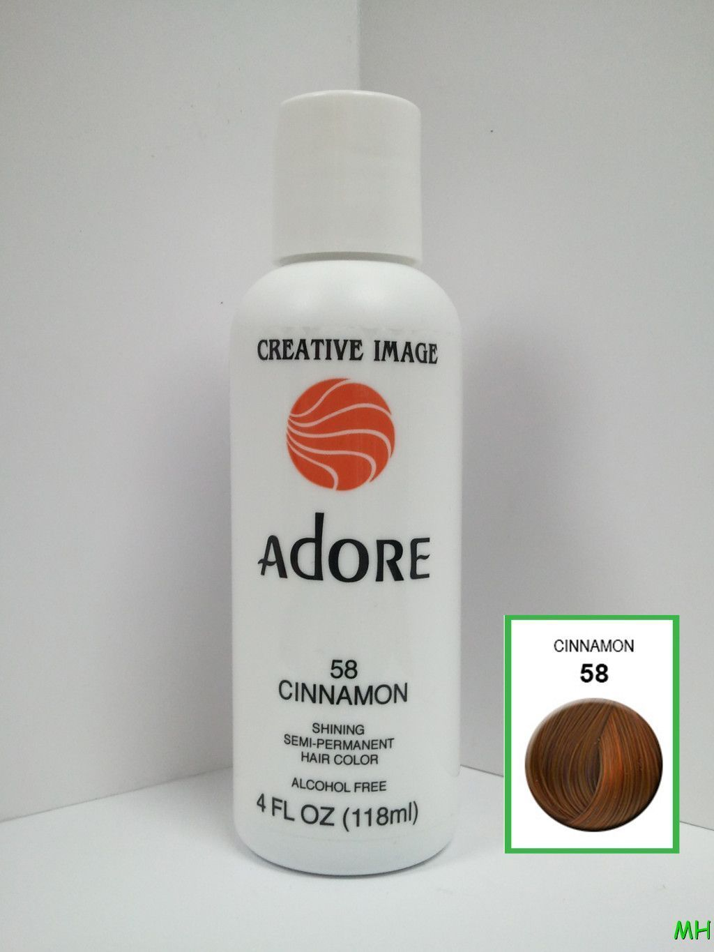 CREATIVE IMAGE ADORE SEMI PERMANENT HAIR COLOR #58 CINNAMON 4oz