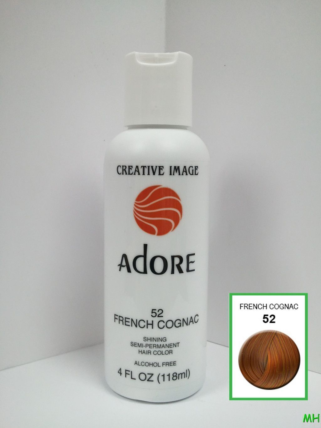CREATIVE IMAGE ADORE SEMI PERMANENT HAIR COLOR #52 FRENCH COGNAC 4oz