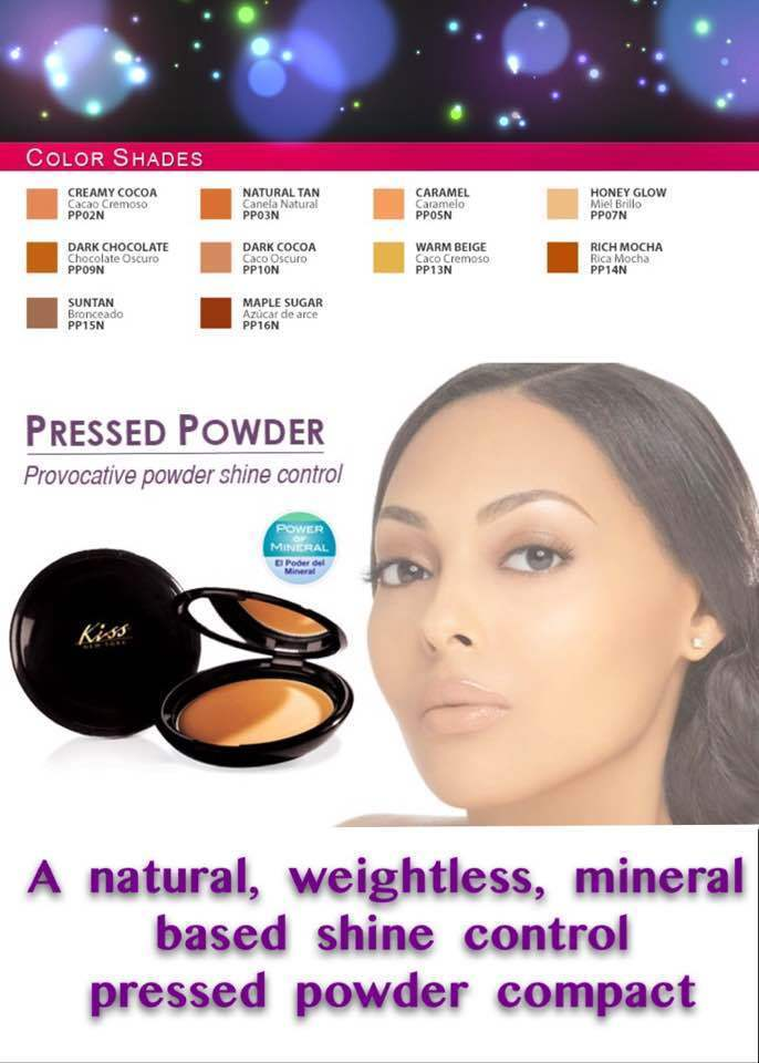Kiss New York PRESSED POWDER WITH SHINE CONTROL MINERAL ENRICHED LIGHTWEIGHT