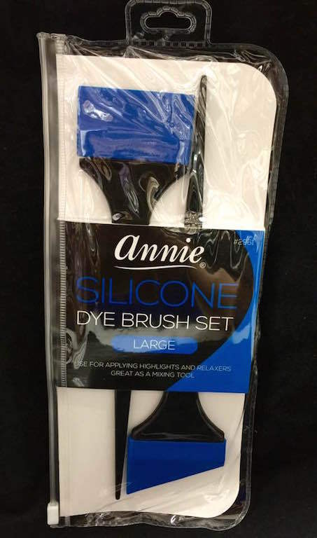 Annie 2PC SILICON TINT BRUSH SET LARGE #2961 WORRY FREE OF TANGLING, OVERLAPPING