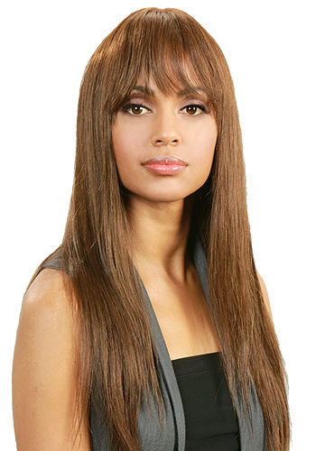 MIDWAY BOBBI BOSS 100% HUMAN HAIR WIG MH1165 LONG STRAIGHT WIG WITH BANGS FRINGE