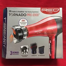 RED BY KISS TORNADO PRO 2000 PROTECT FROM HEAT DAMAGE BLOW DRYER BD08