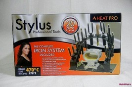 STYLUS COMPLETE MARCEL IRON SYSTEM SET : TOTAL OF 20 PIECES- TOOL RACK ,CASE