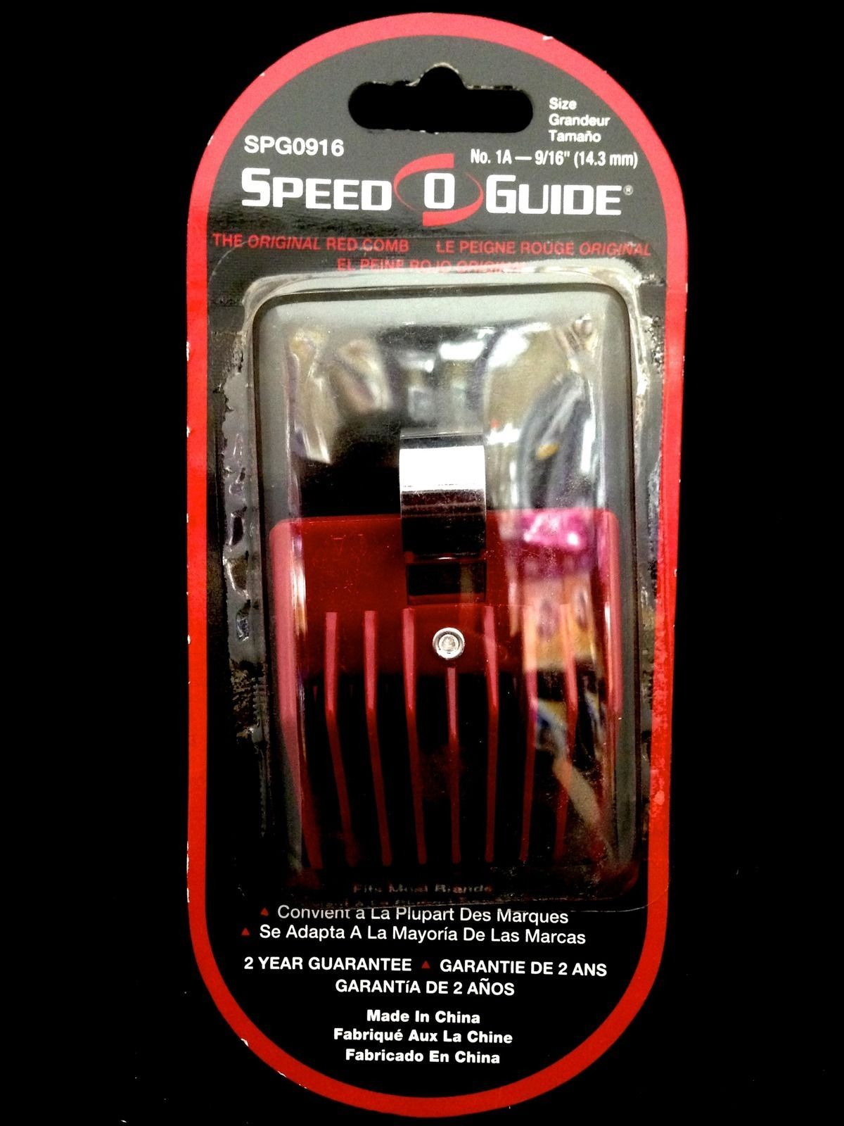 "SPEED O GUIDE THE ORIGINAL RED COMB FITS MOST BRANDS SIZE No. 2 11/16"" 17.5mm"