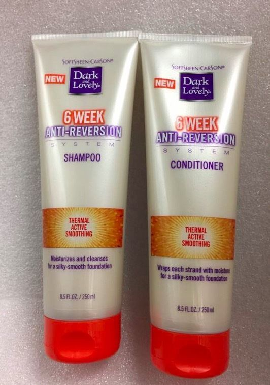 DARK AND LOVELY 6 WEEK ANTI REVERSION SHAMPOO & CONDITIONER 8.5oz/EA