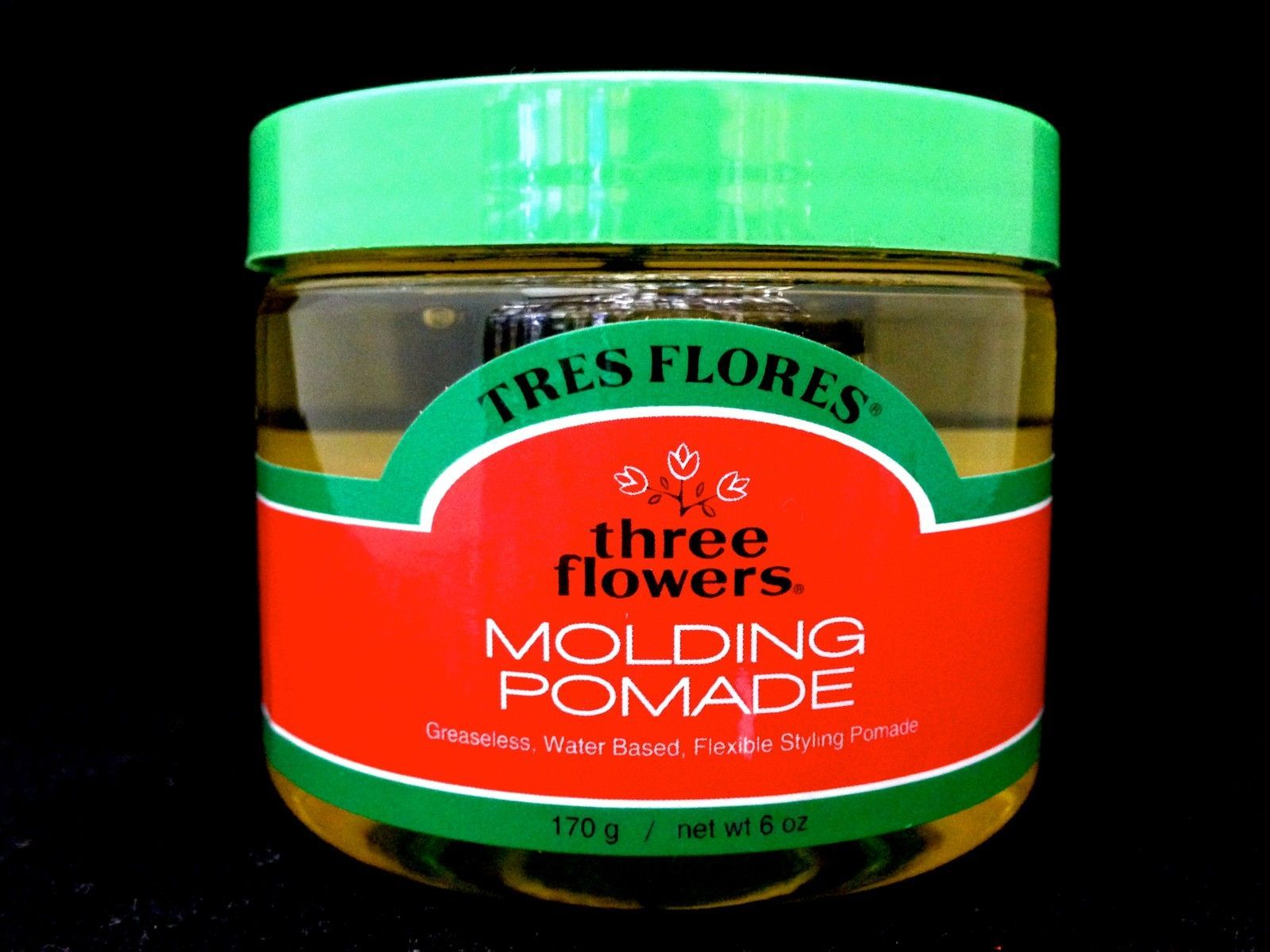 TRES FLORES THREE FLOWERS MOLDING POMADE WATER BASE STYLING POMADE 6oz