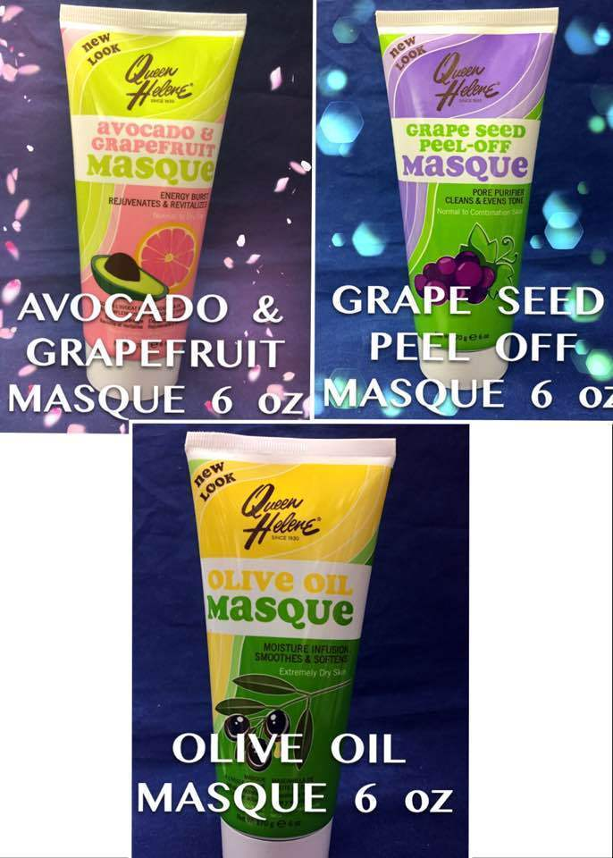 QUEEN HELENE AVOCADO & GRAPEFRUIT, GRAPE SEED PEEL OFF, OLIVE OIL FACIAL MASQUE