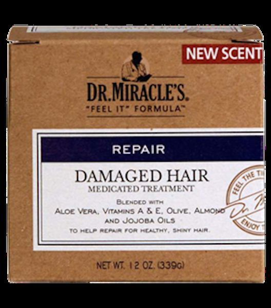 DR. MIRACLE'S REPAIR DAMAGED HAIR MEDICATED TREATMENT BLENDED W/ ALOE VERA 12oz