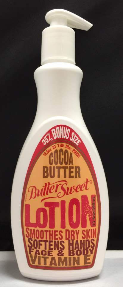 BUTTER SWEET COCOA BUTTER LOTION SMOOTHES DRY SKIN HANDS FACE & BODY  BONUS SIZE