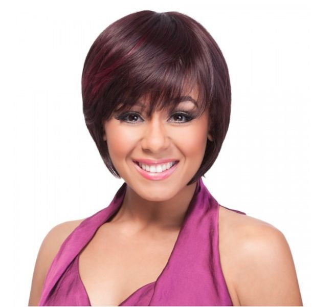 IT'S A WIG HH SYMMETRY 100% HUMAN HAIR SYNTHETIC MIXED BOB STYLE SHORT WIG