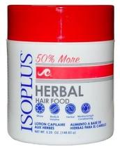 Isoplus Food Herbal Hair Food 5.25 Oz. Shine, Herbal, Moisturizing - $4.54