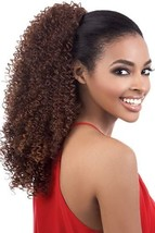 ORADELL MOTOWN TRESS PD-141HT LONG NATURAL CURLY DRAWSTRING PONYTAIL SUPER FULL