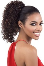 ORADELL MOTOWN TRESS PD-121HT MEDIUM LENGTH NATURAL CURLY DRAWSTRING PONYTAIL