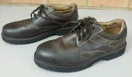 DOCKERS Solid Brown Leather Waterproof Stain Defender Oxfords Sz 9 M  - $18.94