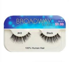 KISS BROADWAY EYELASHES BLA14  #43 100% HUMAN HAIR - $1.49