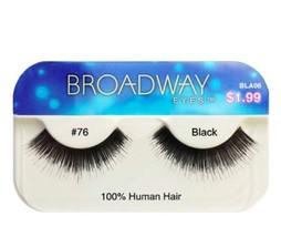KISS BROADWAY EYELASHES BLA06 -  #76 100% HUMAN HAIR - $1.49