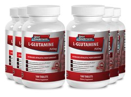 Amino acids supplements for depression - L Glutamine 500mg - Keeps clear... - $66.99
