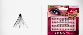 I ENVY by KISS INDIVIDUAL LASHES ULTRA BLACK KNOT FREE SHORT 70PC KPE04UB - $3.95