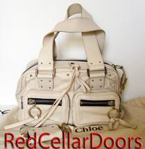 Auth CHLOE BETTY Cream Leather BETTY Blanc Satchel Bag w/ Coin Case $1650 - $589.05