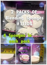 2 PACKS OF  BLOSSOM LATEX ROUND BLENDING SPONGES  #11104 -4PCS EACH PACK - $2.56