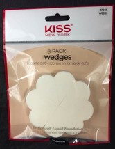 KISS NEW YORK 8 PACK WEDGES FOR USE WITH LIQUID FOUNDATION WED03 - $1.97