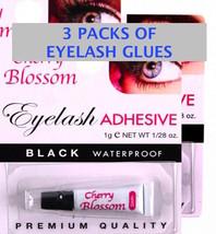 3 OF CHERRY BLOSSOM EYELASH ADHESIVE 4 STRIP & INDIVIDUAL LASHES QUICK D... - ₨159.18 INR