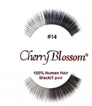 CHERRY BLOSSOM FALSE EYELASHES CHOOSE 1 TO 10 PAIRS OF QTY of  #14 LASHES - $1.57+