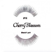 CHERRY BLOSSOM FALSE EYELASHES CHOOSE 1 TO 10 PAIRS OF QTY of  #12 LASHES - $1.57+