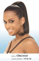 SHAKE N GO FREETRESS ORCHID GIRL STRAIGHT WITH LIGHT LAYER DRAWSTRING PONYTAIL