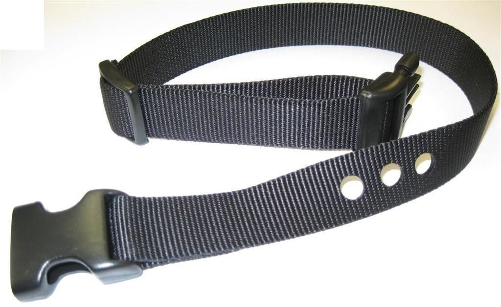 "Sparky PetCo 3/4"" PetSafe Compatible Replacement 3 Hole Dog Strap, Black"