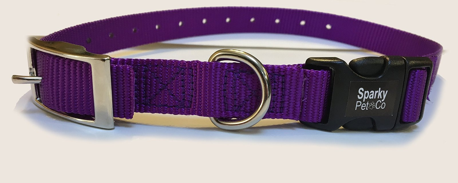 "Sparky PetCo E Collar Compatible 3/4"" Nylon Double Buckle Quick Snap Replacem..."