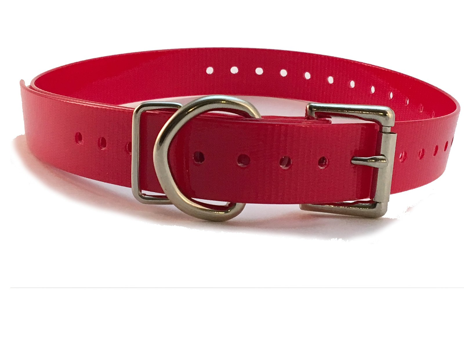 PetSafe Compatible 3/4' High Flex Waterproof Roller Buckle Dog Strap, Red
